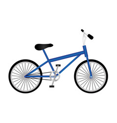 Silhouette of sport blue bike in white background vector