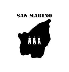 Symbol of isle of san marino and map vector