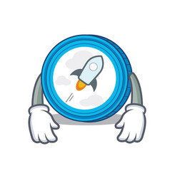 Tired stellar coin character cartoon vector