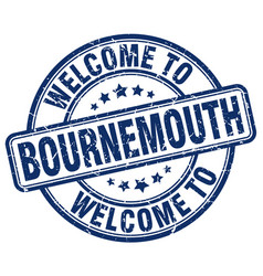 welcome to bournemouth blue round vintage stamp vector image