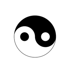 Ying yang icon in simple style vector