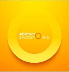 Paper orange circle banner with drop shadows vector image