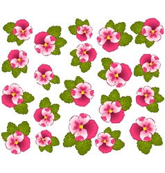 Vintage backgroun d with flowers vector image