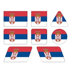 Buttons with flag of serbia vector
