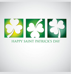 Shamrock cut out st patricks day card in format vector