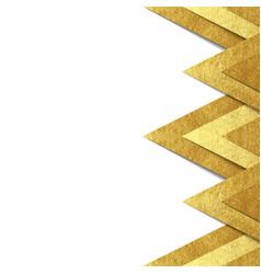Metallic gold paper border background vector