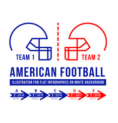 American football is the history of meetings vector