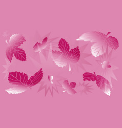 Abstract lilac background with leaves vector
