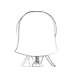 Cute wife back avatar character vector