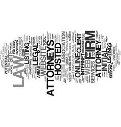 Attorneys online text background word cloud vector
