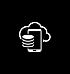 cloud storage icon flat design vector image