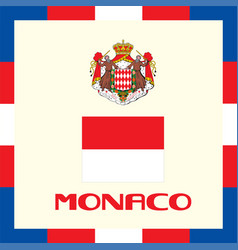 Official government ensigns of monaco vector