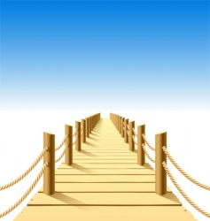 wooden jetty vector image