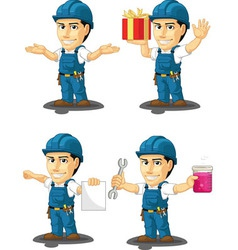 Technician or repairman mascot 11 vector