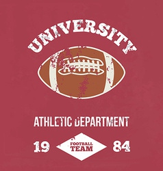 University football athletic dept vector