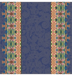 Lace border stripe in dirty dark blue ornate vector