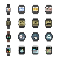 Smart Watch Icon Flat vector image