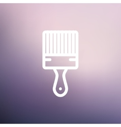 Paintbrush thin line icon vector