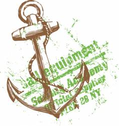 green anchor vector image