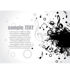 Musical background with place for your text vector