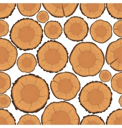 Tree rings seamless pattern vector
