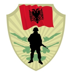 Army of albania vector