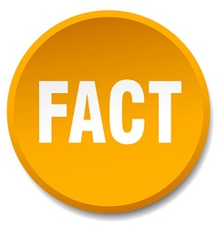 Fact orange round flat isolated push button vector