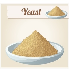 Yeast detailed icon vector