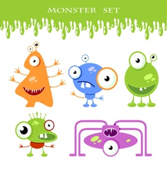 Halloween monster set vector