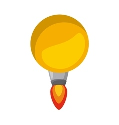 Rocket launcher of bulb isolated icon design vector