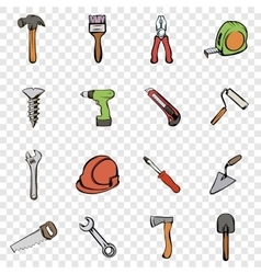 Building set icons vector
