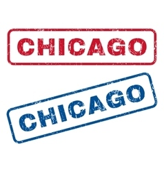 Chicago rubber stamps vector