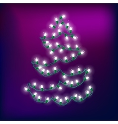 Christmas Light Abstract Tree 2 vector image