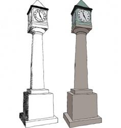 City clock vector