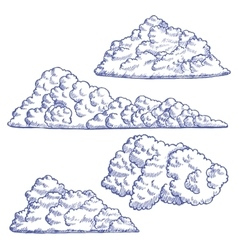 Clouds hand draw sketch vector