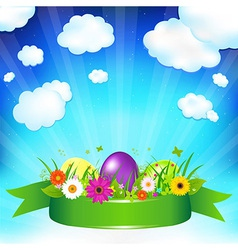 Easter ard template vector