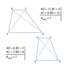 finding the area of a trapezoid vector image