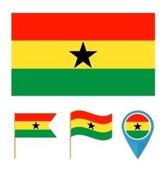 Ghana country flag vector