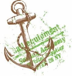 green anchor vector image