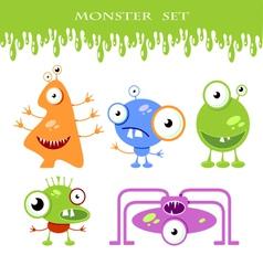 Halloween monster set vector image
