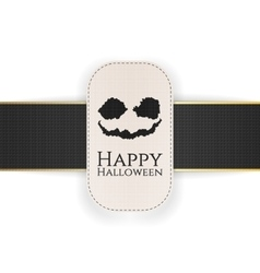 Happy Halloween Banner with Text and spooky Face vector image