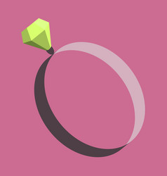 Icon in flat design fashion engagement ring vector