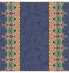 Lace border stripe in dirty dark blue ornate vector