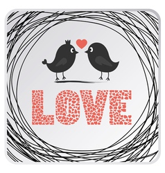 Love birds card2 vector image
