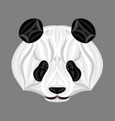 panda bear picture of panda head panda face vector image vector image