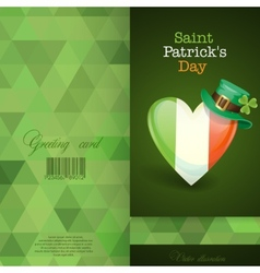 Patricks Day Irish Flag In The Shape Of A Heart vector image
