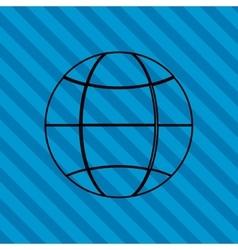 Planet design world icon flat vector