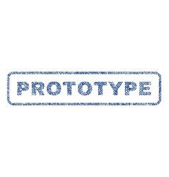 Prototype textile stamp vector