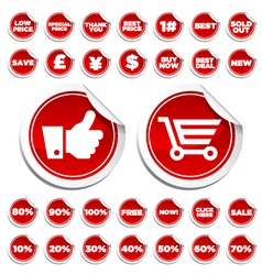 sale and shopping stickers vector image vector image