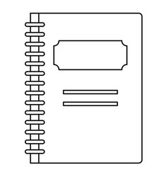 school notebook icon outline style vector image vector image